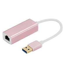 цена на 10/100/1000 Mbps RJ45 To USB 3.0 External LAN Adapter Gigabit Ethernet Network Converter for Laptop