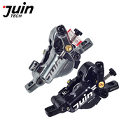 Juin Tech M1 Mountain Bicycle Disc Brake Set Cable Line Pull hydraulic Disc Caliper 160mm Alloy Black/Gray for MTB XC e bike
