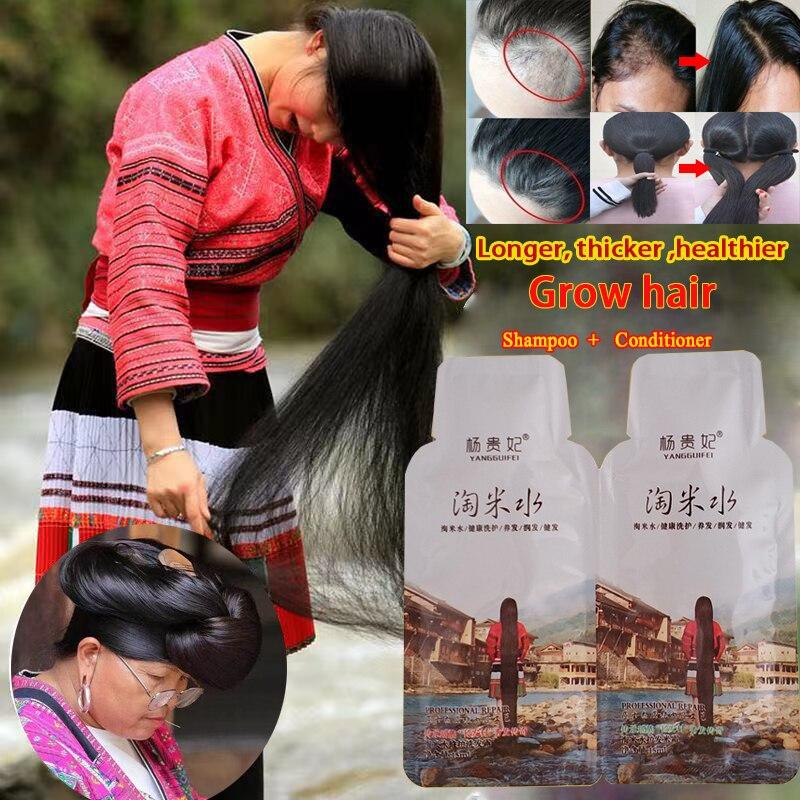 Шампунь для роста волос Rice против выпадения волос для мужчин t-сыворотка для быстрого роста более толстых волос для мужчин и женщин лучший п...