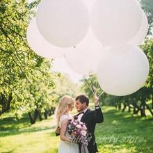 Ballons de mariage saint-valentin 36 pouces, glands doux pour fête d'anniversaire, ballon à hélium, ballon météo, blanc