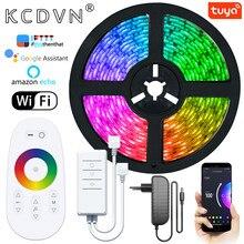 Tira de luces LED con WIFI, controlador inteligente RGB 5050 2835 SMD, cinta Flexible para TV, ordenador, decoración del hogar, cinta de diodo remoto con Bluetooth