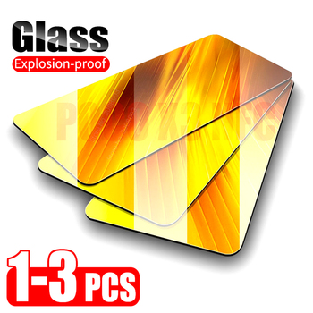 1-3pcs armor glass for xiaomi mi 10t pro little poco m3 x3 f1 f2 pro screen protector on redmi 9c nfc 9a note 9s 9 tempered film