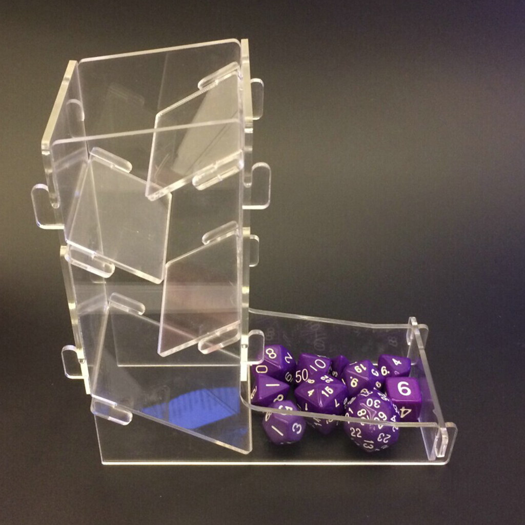 Transparent Clear Prism Board Game Dice Tower Toy Gadget for DND TRPG Game