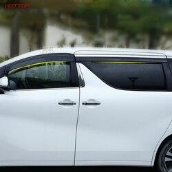 Przezroczysty z tworzywa sztucznego okno Visor Vent Shades osłona przeciwdeszczowa osłona dla Toyota Alphard Vellfire 2015-2019