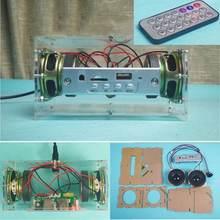 CLAITE Kit de Altavoz Bluetooth 5,0 de 3W, Mini tarjeta TF de música MP3, amplificador de potencia de disco en U, producción electrónica de Audio