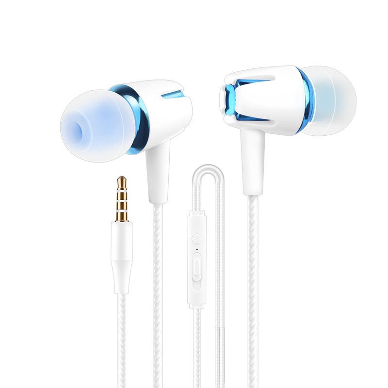 BGreen Wire Earphone Noctilucent Headset With Microphone  Fine Tuned Speakers Support In Line Control For Smart Cell Phone MP3