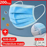 Mouth Masks Anti Dust Face Mask Disposable Mask Filter 3-laye Anti-Dust Meltblown Cloth Earloops Protective Masks Children Adult