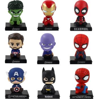 Bobble Heads nieskończoność wojna Avengers figurki Thanos Iron Man Hulk Spiderman Deadpool kapitan zabawki modele dekoracje samochodowe tanie i dobre opinie Disney CN (pochodzenie) Unisex 12cm 14cm No Fire 12cm-14cm PIERWSZA EDYCJA STARSZE DZIECI 2-4 lata 5-7 lat 8-11 lat 12-15 lat