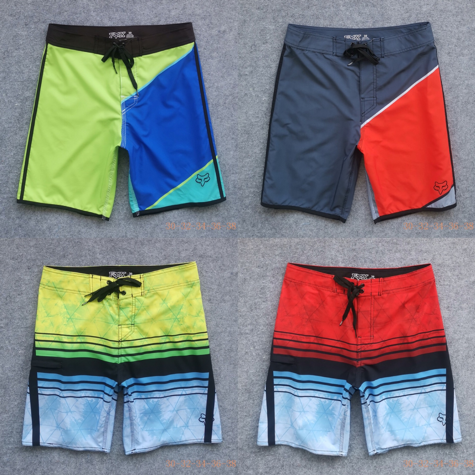Spandex Fox Beach Shorts Men's Trousers Sports Boardshort Household Outdoor Race Car Rider Casual Pants
