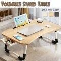 Складная подставка-держатель для ноутбука, Рабочий стол, деревянный складной компьютерный стол для кровати, дивана, чайного стола