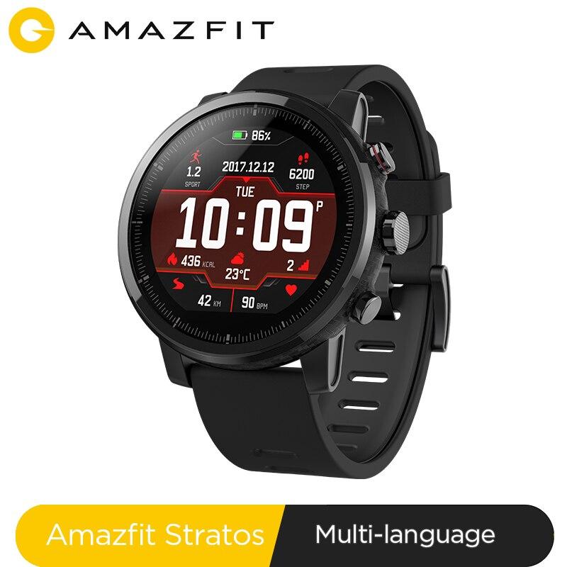 Huami amazfit stratos ritmo 2 smartwatch relógio inteligente bluetooth gps contagem de calorias monitor de coração 50 m à prova dwaterproof água