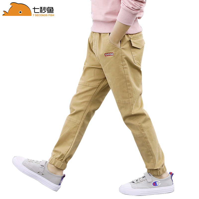 boys pants spring autumn children's cotton pants 2020 kids leggings ruffle pants 3-12 teenage clothes baby boy sweatpants title=