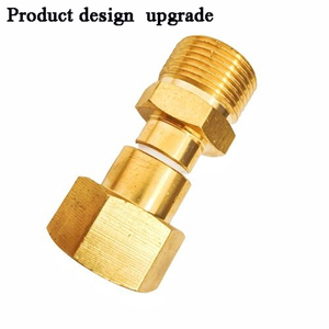 Image 5 - HNYRI Washer Adapter Swivel M22 Female with M22 14MM Male Brass Thread Connect to Pressure Hose or Foam Gun Washing Pipe Machine