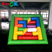 2.5mx0.3mH PVC Inflatable Tetris Cube Games Jigsaw Puzzle Games Team Building Sports Games