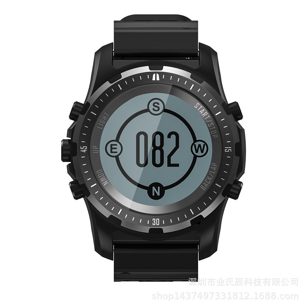 Smart Watch Men GPS Fitness Tracker Wristwatch Heart Rate Monitor Sport Clock Waterproof Compass S966 Smartwatch|Smart Watches| |  - title=
