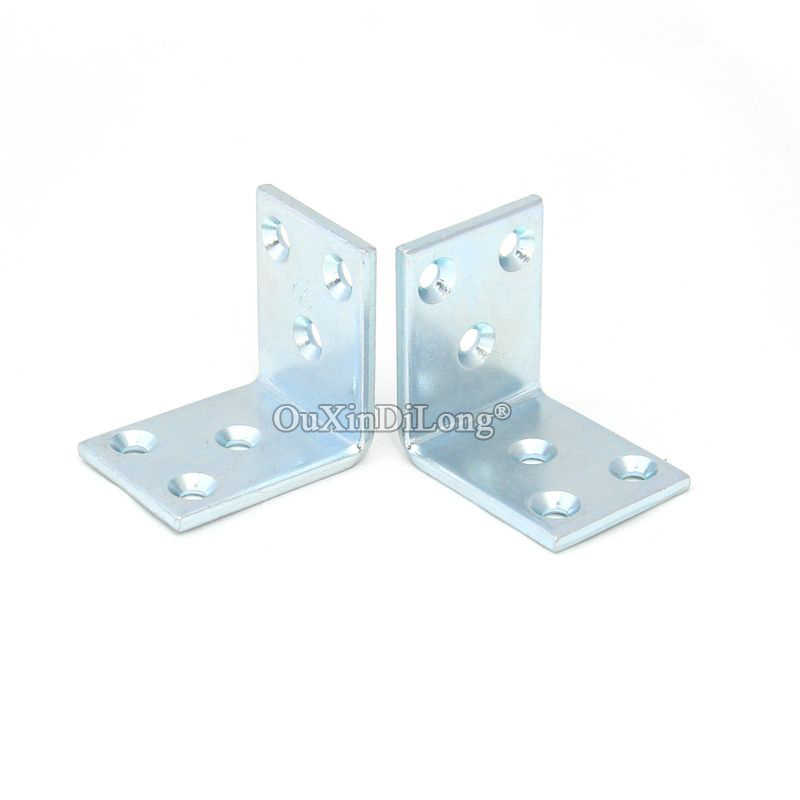 BRAND NEW 32PCS Metal Angle Corner Braces L Shape Furniture Connecting Fittings Frame Board Shelf Support Bracket 3.2X30X40X40mm