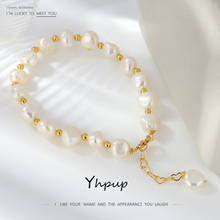 Yhpup 10mm Classic Luxury Natural Pearl Bangle Bracelet for Women