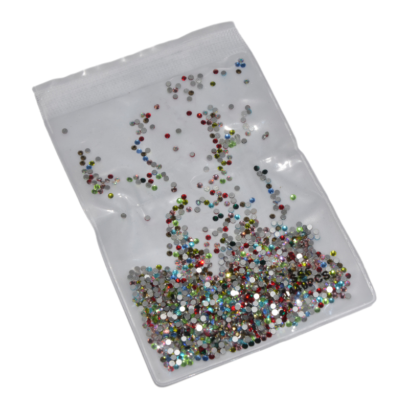 SS3-SS10 Crystal AB Rhinestones Flat Back Glass Chameleon Nail Rhinestones For Charms 3D Nails Art Decorations Strass