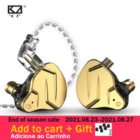 KZ ZSN Pro X-auriculares internos, 1BA 1DD + tecnología híbrida, auriculares metálicos de graves HIFI, auriculares deportivos con cancelación de ruido y Monitor