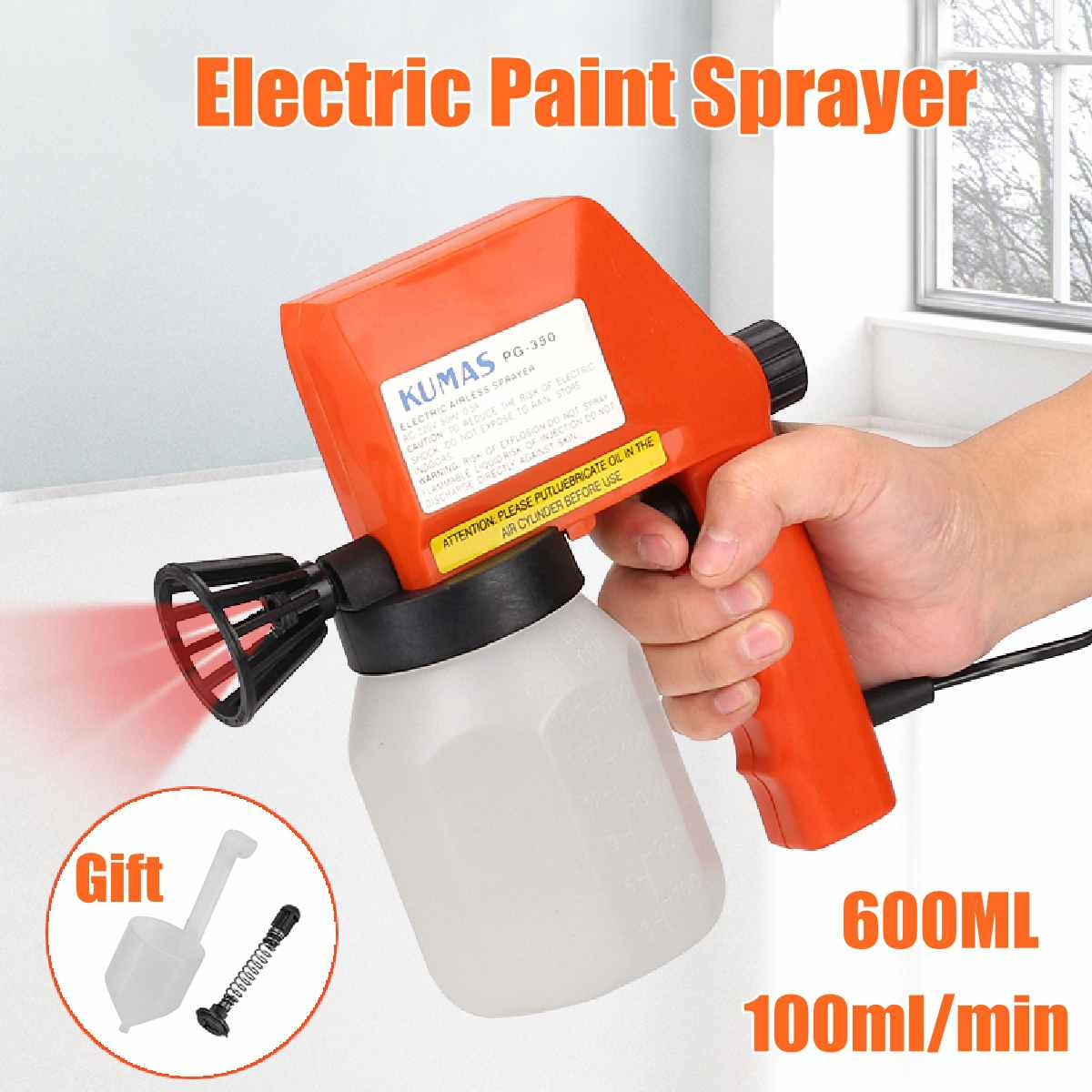 220V Large Capacity Electric Paint Sprayer Airless Hand Held Spray Gun For Painting Houses/Garages/Decks/Furniture