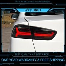 AKD tuning cars światła tylne do Mitsubishi Lancer 2009-2016 tylne światła LED DRL światła do jazdy światła przeciwmgielne angel eyes tylne parkowanie