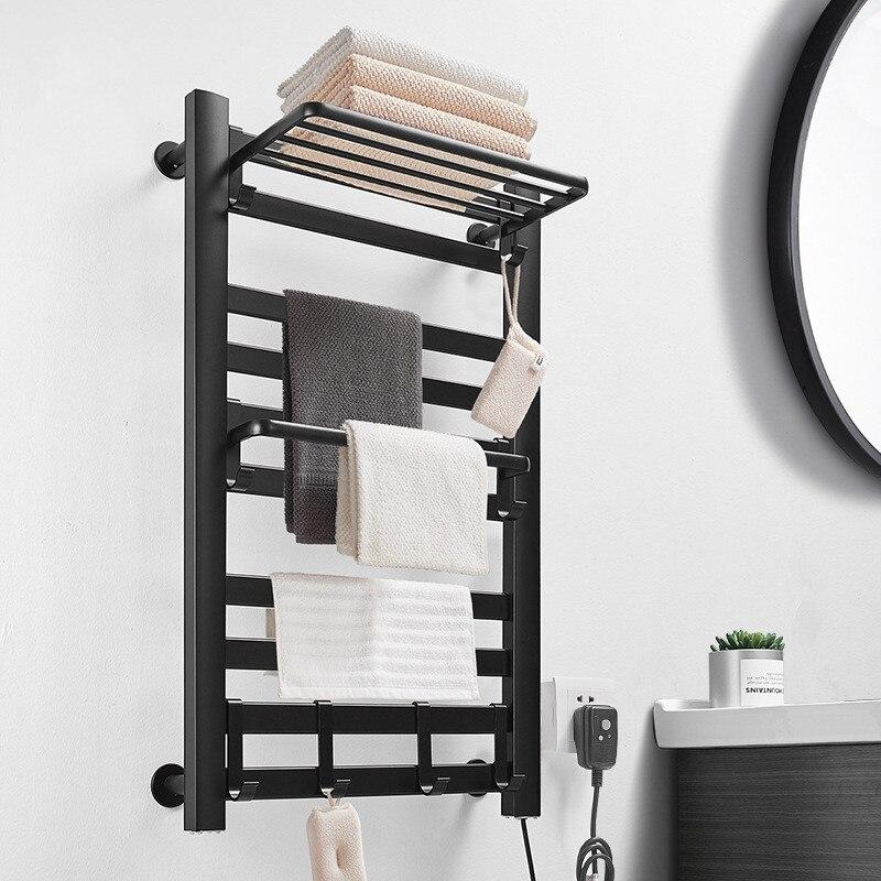 90w/130w Intelligent Sterilization Electric Heating Towel Rack Heated Smart Towel Dryer Shelf Towel Warmer Rail Bathroom Fitting