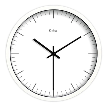 Mental Digital Round Wall Clock Modern Design Nordic Whiter Wall Clock Silent Reloj Pared Living Room Decoration WKP426