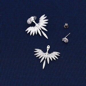 Image 2 - Pendientes grandes con pasador de Ángel brillante y elegante para mujer, joyería de moda brincos ohringe Boucle Doreille