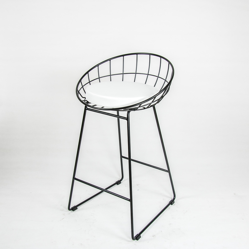 U-BEST Nordic Round Back Metal Wire Bar Chair Wedding Counter Stool Party Chair With Powder Coated Finish