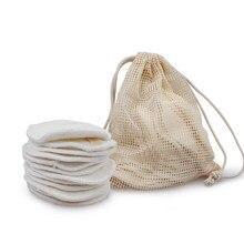 Disques démaquillants en coton fibre de bambou lavables et réutilisables, accessoire pour le nettoyage et le soin de la peau, 12 pièces,