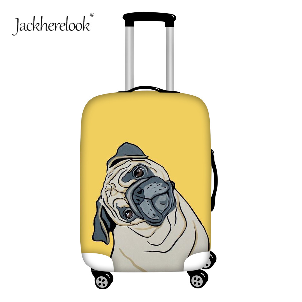 Jackherelook Funny Pug Dog Print Luggage Bag Cover Travel Trolley Case Sheet Dirty/dust Anti Sheet For 18-32 Inch Box