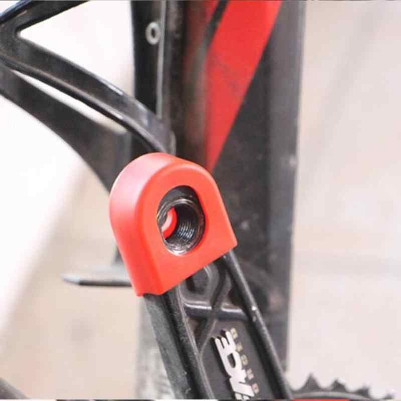 2 ชิ้น/เซ็ตซิลิโคนจักรยาน Crankset Crank ล้อป้องกัน PROTECTOR