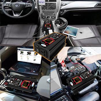 6000W falownik sinusoidalny cyfrowy falownik samochodowy podwójny USB przetwornica napięcia ładowarka Adapte DC 12V do AC 220 110V falownik samochodowy tanie i dobre opinie BYGD NONE CN (pochodzenie) 50Hz 60Hz 6 V-10 V 110V 220V Uniwersalny Power Inverter 9 5V-15 5V 110V±10 220V±10 Impulse