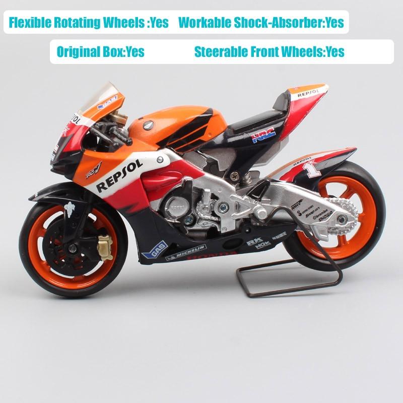 Image 4 - Escala 1/18 nueva ray Honda RC212V jinete n° 1 Nicky Hayden 2007 moto bicicleta moto rcycle de gp Diecasts y modelos de vehículos de juguete hobbyJuguete fundido a presión y vehículos de juguete   -
