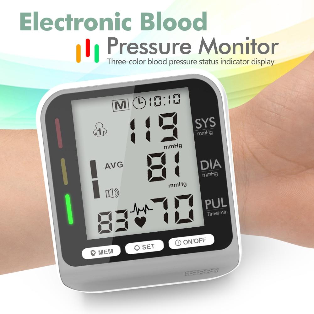 Digital Arm Blood Pressure Monitor тонометр BP Backlit Sphygmomanometer LCD Heart Rate Tonometer Tensiometer Health Care Device