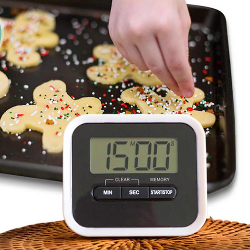 1pc LCD numérique écran cuisine minuterie cuisine accessoires carré cuisson compte à rebours fort alarme aimant horloge