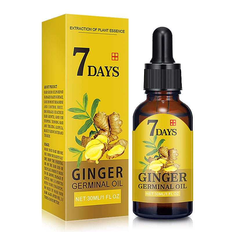 New Arrive 7 Day Ginger Germinal Serum Essence Oil 30ML Natural Hair Loss Treatement Effective Fast Growth Hair Care S1 image