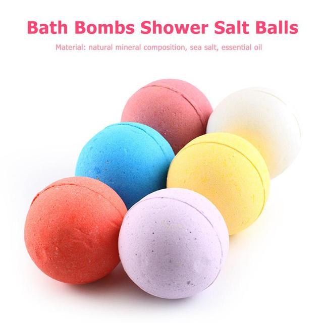 6pcs/Set Bath Bomb Balls Classic Colors and Simple Durable Design Moisturizing Exfoliating Oil-Control Body Salt Bubble 2
