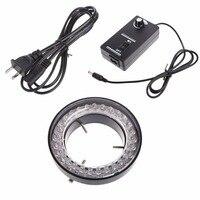 EU Plug US Plug 60 LED Adjustable Ring Light illuminator Lamp For STEREO ZOOM Microscope Source|Microscopes| |  -