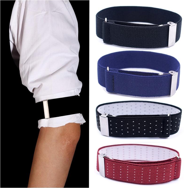 2020Adjustable Non-Slip Straps Men Business Elastic Shirt Sleeve Garter Strap Arm Band Sleeve Cuff Holder Armband