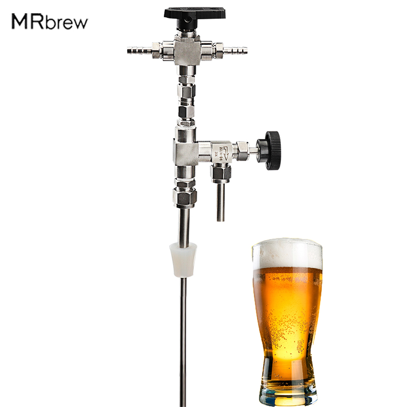 Beer Bottle Filler, Food Grade Stainless Steel 304 Counter Pressure Bottling Wand For Beer & Wine