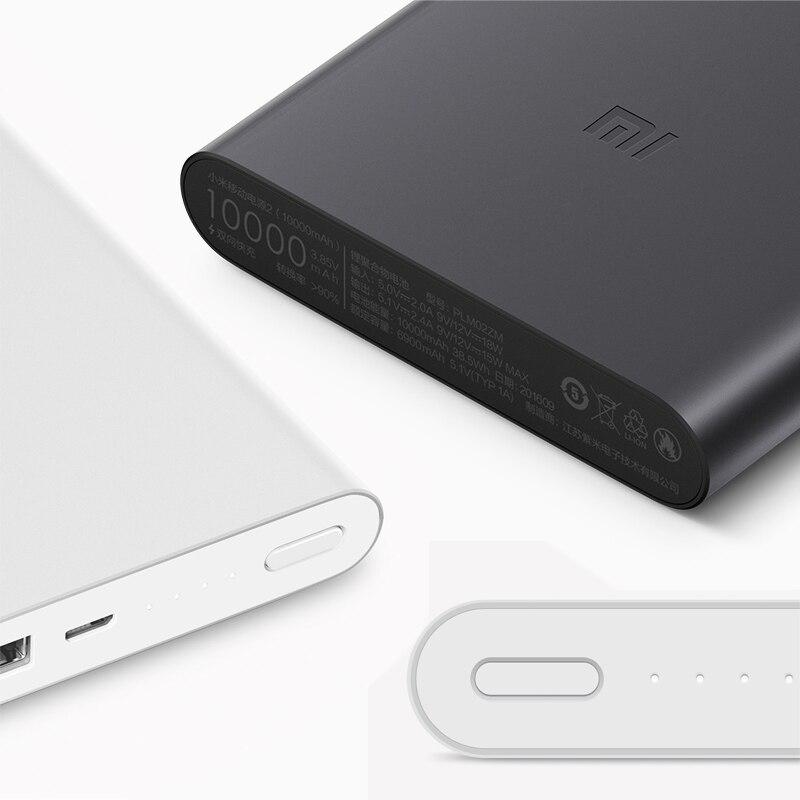 Nieuwe Xiaomi Mi Power Bank 2 10000 Mah Redmi Power Bank Dual Usb-poort Snel Opladen Powerbank Ultra-Dunne externe Batterij Opladen 3