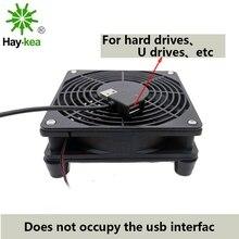 5 В USB Мощный Маршрутизатор вентилятор ТВ коробка кулер 120 мм ПК кулер DIY W/Винты защитная сетка бесшумный Настольный вентилятор