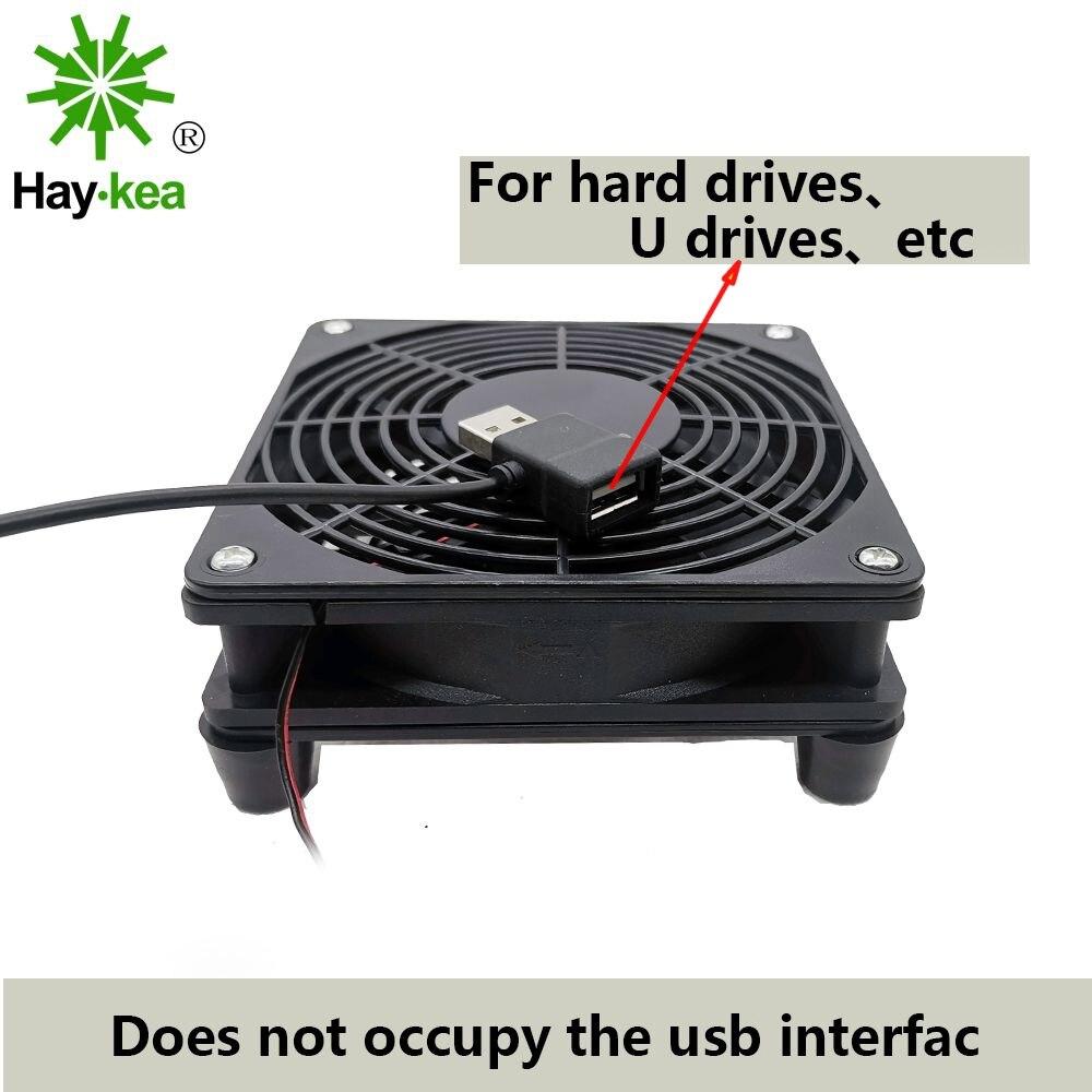 5V USB puissance routeur ventilateur TV boîte refroidisseur 120mm PC bricolage refroidisseur W/vis filet de protection silencieux ventilateur de bureau