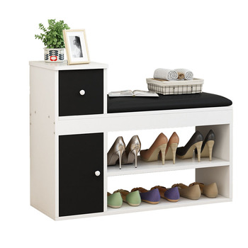 Multi functional cloth storage stool storage stool home door entry sit shoes stool cabinet shoes stool