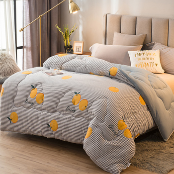 Freshness Style Thicken Duvet 100% Washed Cotton Soft Quilts 200*230cm Home Bedding Winter Blankets Very Warm Winter Comforter