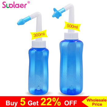 1 Set New Adults Children Blue Neti Pot Nasal Nose Wash Yoga Detox Sinus Allergies Relief Rinse 300ML /500ML Dropshipping 1