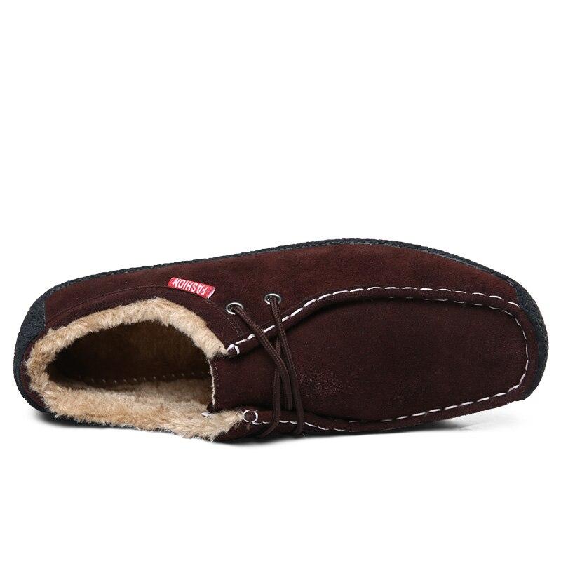 Big Size 50 Winter Pluche Warm Houden Mannen Koe Suède Schoenen Mode Mannen Flats Schoenen Casual Mannelijke Lederen Schoenen mannen Sneakers - 6