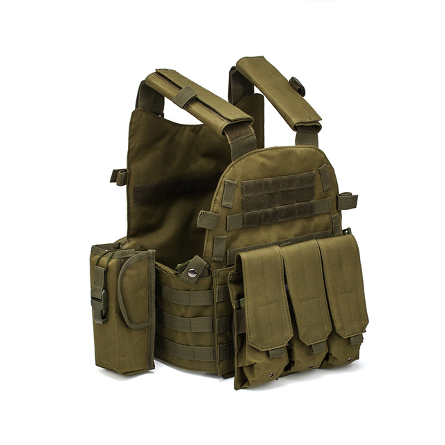 Men Military Tactical Vest Paintball Camouflage Molle Hunting Vest Assault Shooting Airsoft Vests Outdoor Clothes Accessories 1