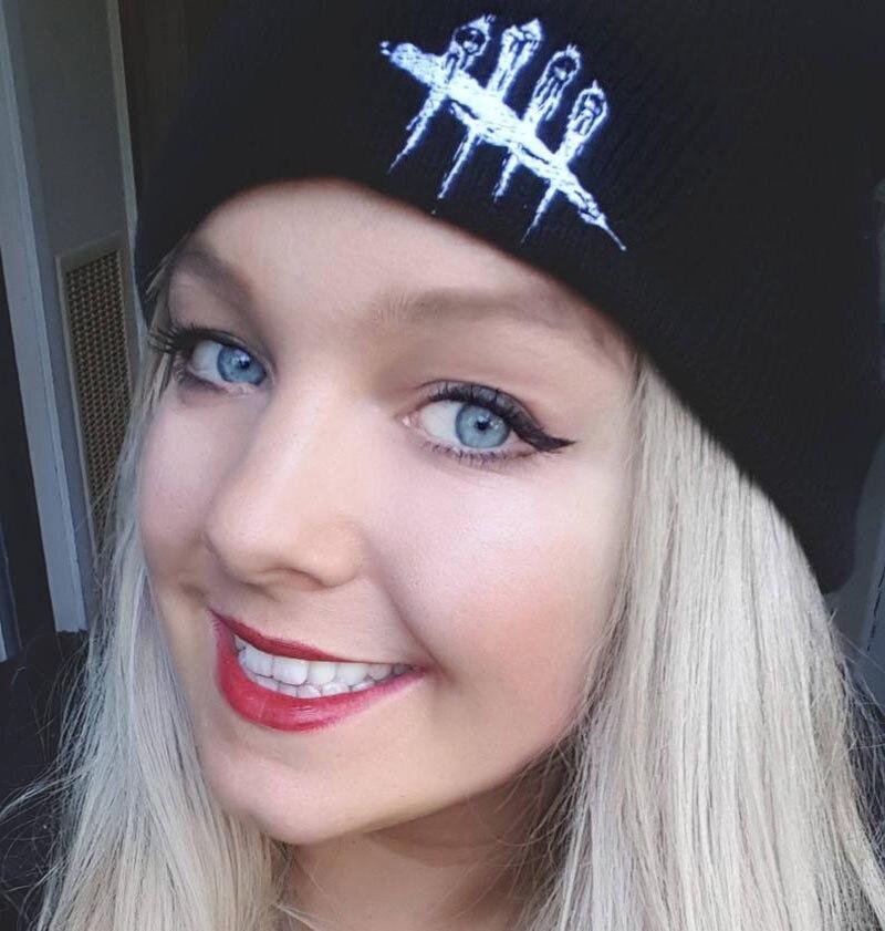 Winter New Fashion Street Hip-hop Wool Cap Men Dead By Daylight Embroidery Pattern Knit Hat Outdoor Riding Ski Warm Beanie Hat